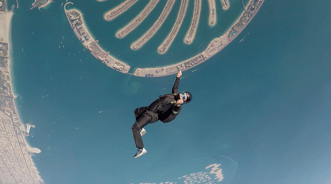 Princess Latifa Skydiving over Palm Jumeirah Dubai