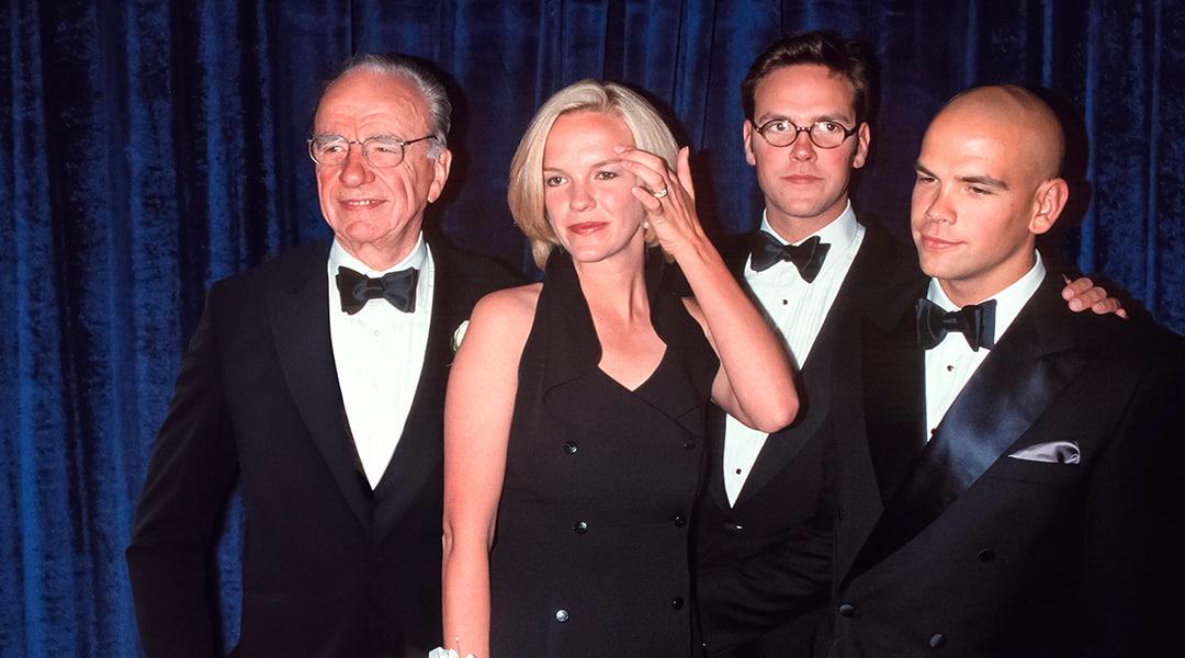 Rupert Murdoch Elisabeth Murdoch James Murdoch Lachlan Murdoch in formal attire