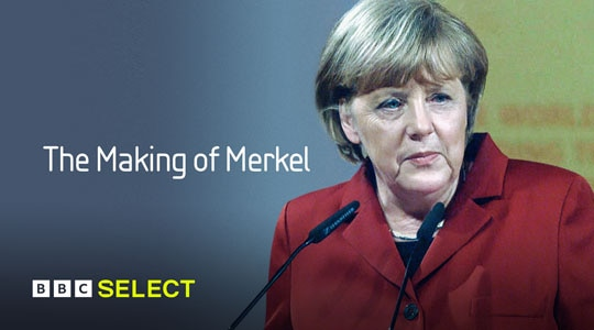 Angela Merkel giving a speech