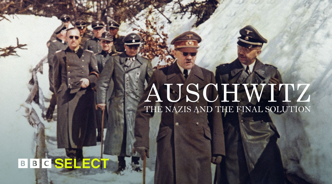 Group of Nazis walking in the snow