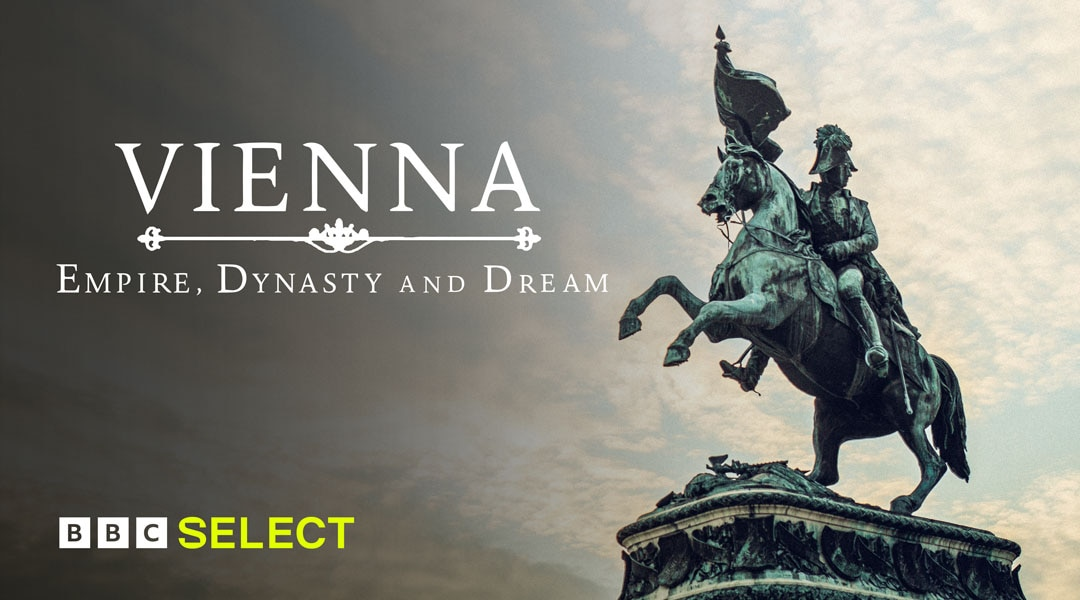 Statue of a man on a horse for TV title Vienna: Empire, Dynasty and Dream