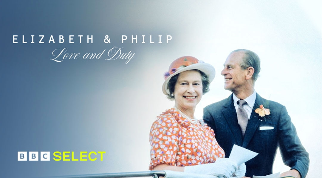 Queen Elizabeth and Prince Philip enjoy a moment together