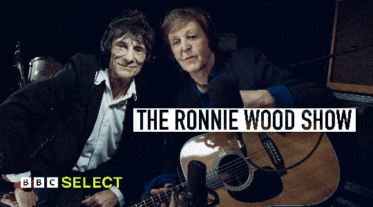 Ronnie Wood and Paul McCartney