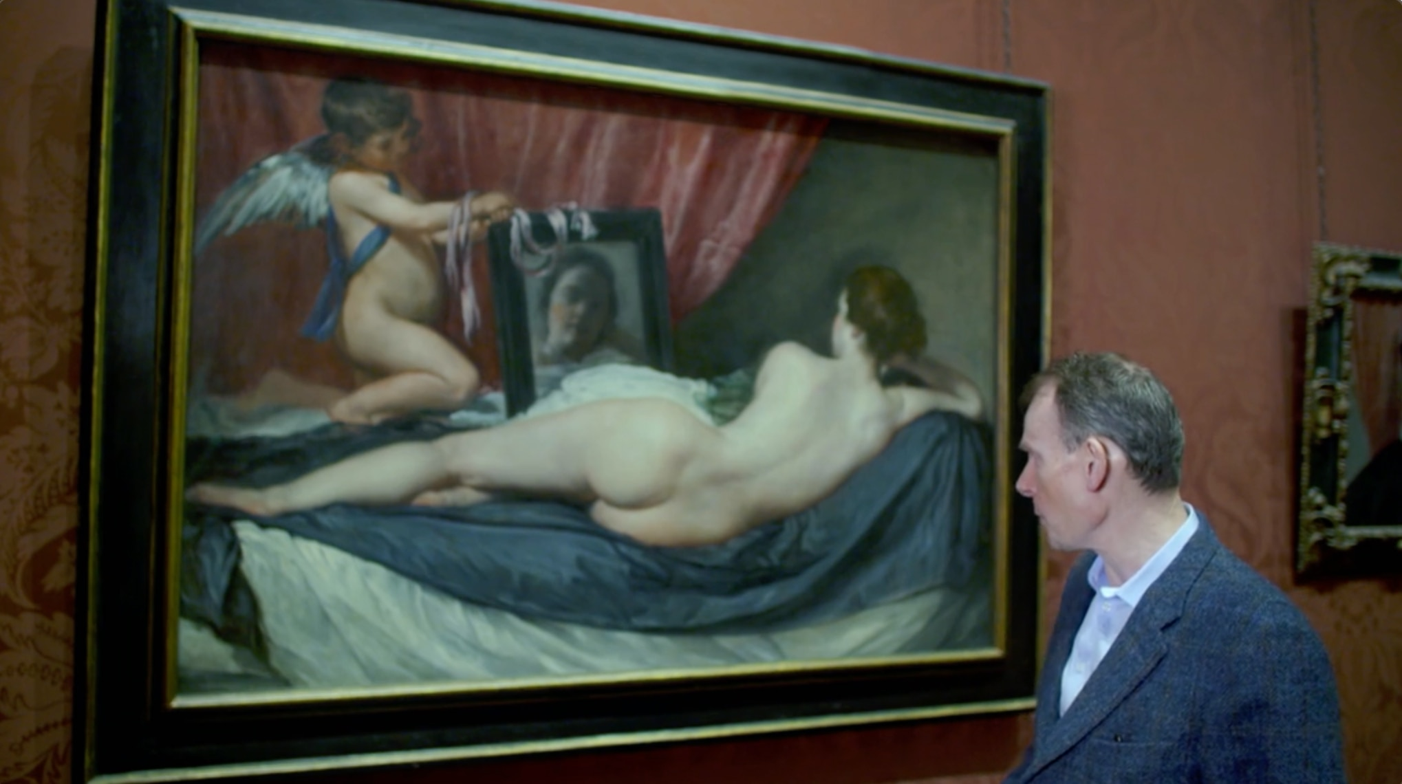 Andrew Marr looking at Rokeby Venus by Diego Velázquez